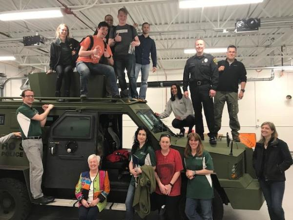 Citizen Police Academy Group Photo Atop Police Armored Vehicle